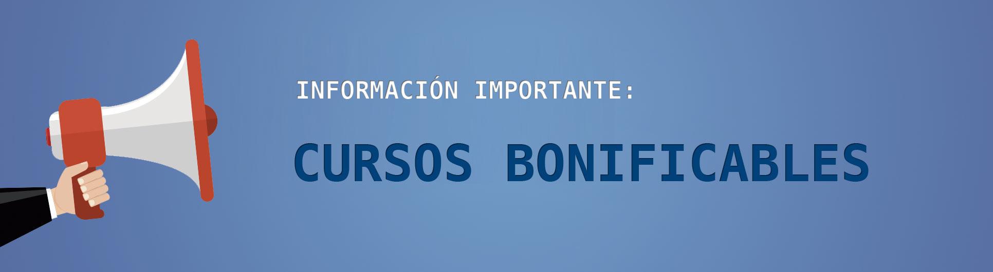 CURSOS BONIFICABLES